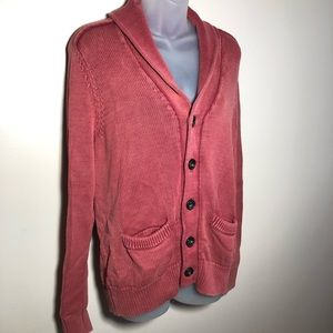 Medium American Eagle Prep Fit Burnt Rust Cardigan